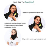 2018 Upgraded Travel Neck Support Pillow - Machine Washable Grey