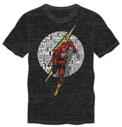 DC Comics The Crimson Comet Flash Men's Black T-Shirt