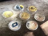 HODL's Cryptocurrency Gift Set Gold & Silver Metal Crypto Coins [Pack of 7 Coins]