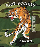 Riot Society Japanese Tiger Camo Mens Long Sleeve T-Shirt - S