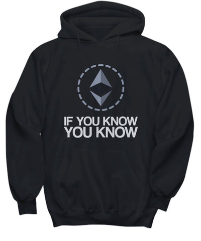Candid Awe If You Know You Know - Ethereum, ETH, Crypto, Ethereum Mining – Unisex Hoodie (X-Large)
