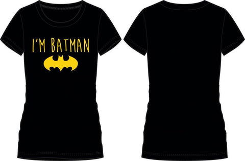 DC Comics Batman Yellow Bat I'm Batman Women's Tee Shirt T-Shirt