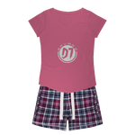 D1  Girls Sleepy Tee and Flannel Short