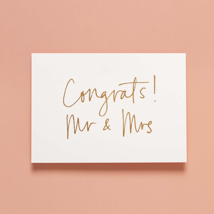Congrats! Mr & Mrs