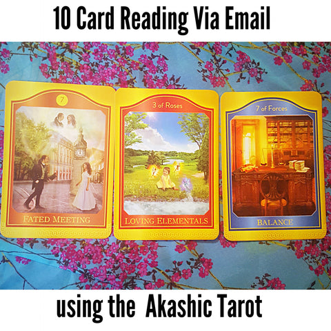 10 Card, Akashic Tarot Card Reading, via Email, by Prism Gypsy