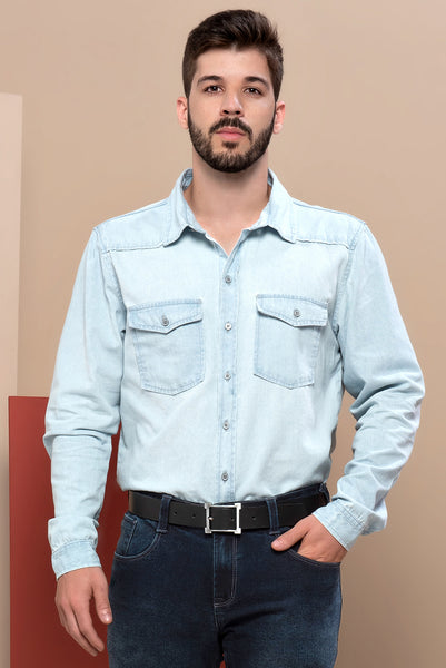 Camisa Jeans Masculina 76150