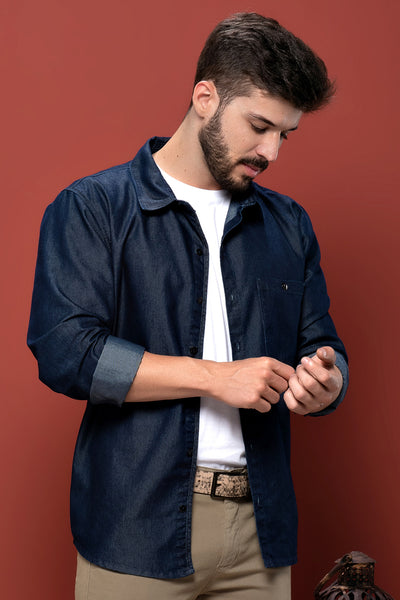 Camisa Jeans Masculina 76151