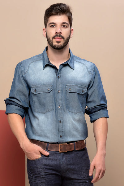 Camisa Jeans Masculina 76152