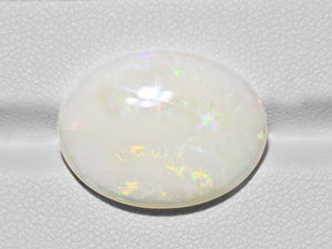 8801088-cabochon-creamy-white-with-multi-color-flashes-igi-australia-natural-white-opal-12.09-ct