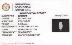 8801094-cabochon-yellowish-white-with-multi-color-flashes-igi-australia-natural-white-opal-9.42-ct