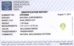 8801121-oval-soft-yellowish-green-igi-india-natural-chrysoberyl-1.29-ct