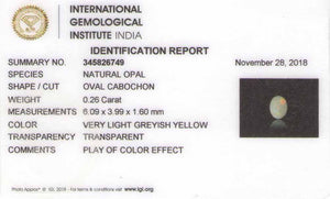 8801442-cabochon-very-light-greyish-yellow-with-multi-color-flashes-igi-australia-natural-white-opal-0.26-ct