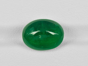 8802177-cabochon-rich-velvety-royal-green-igi-zambia-natural-emerald-8.43-ct