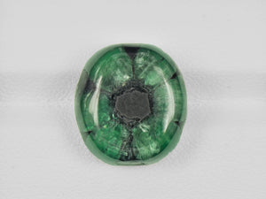 8802128-cabochon-deep-green-with-black-spokes-igi-colombia-natural-trapiche-emerald-16.03-ct