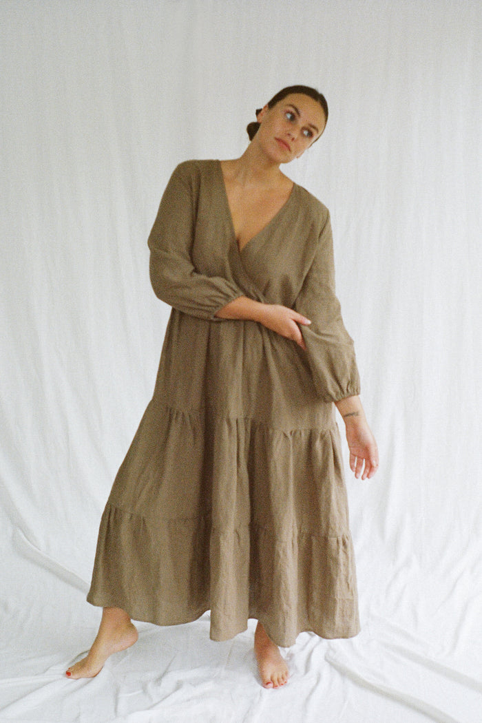 Mars Long Sleeved Tiered Dress