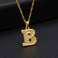 Capital Letter A-Z Alphabet Pendant Necklace