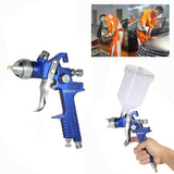 HVLP Professional  1.4mm 1.7mm Air Spray Gun Paint Sprayer 600ml Gravity Feed Airbrush Kit Car Furniture Painting Spraying Tool
