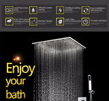 "20"" Rainfall Hand Shower Head Thermostatic Shower Set"