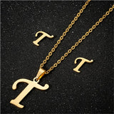 Alphabet Necklaces for Women Stainless Steel Necklace