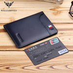 WILLIAMPOLO 2020 men wallets genuine leather
