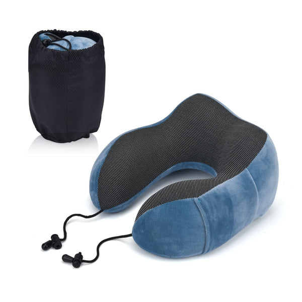 Slow Rebound Neck Pillows For Airplane Portable Car Travel