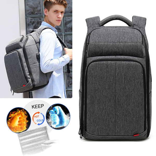 Smart Travel Backpack Cooler Warmer Dry Wet Bags Men Backpacks Male 15.6 Inch Laptop Backpacking Notebook Waterproof OL Bagpack