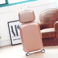 women cute carry on trolley set abs girls rolling luggage on wheels