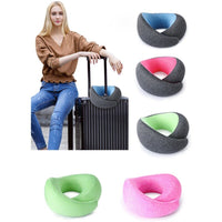 Memory Foam Neck Support Pillow Car Airplane Train High-speed Rail Office