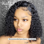 Front Human Hair Jerry Curly Lace Wigs With Baby Hair Brazilian Remy Hair Short Curly Bob Wigs For Women Pre-Plucked Wig
