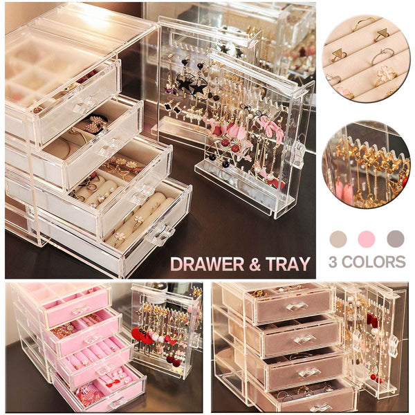 Acrylic Jewelry Storage Box Drawer (4 Layers )