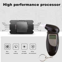 1 PCS Handheld Alcohol Tester Breathalyzer Analyzer LCD Detector