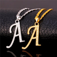 CAPITAL INITIALS NECKLACE Perfect gift silver gold color