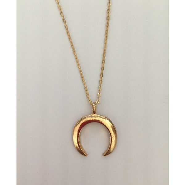 Crescent horns moon pendant necklace gift for women girl