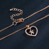 Love Heart Crystal Gold Silver Color Elegant Choker Jewelry Girl Gifts