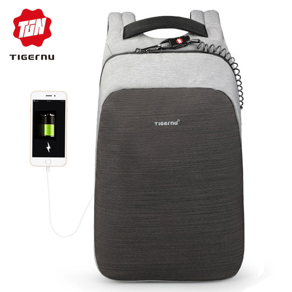 anti theft laptop backpack usb charging 15.6 backpacks men slim waterproof school backpack