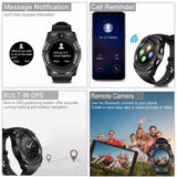 Bluetooth Smartwatch Touch Screen Wrist Watch with Camera/SIM Card Slot