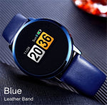 New OLED Bluetooth Smart Watch Stainless Steel Waterproof Wearable Device Smartwatch Wristwatch Men Women Fitness Tracker