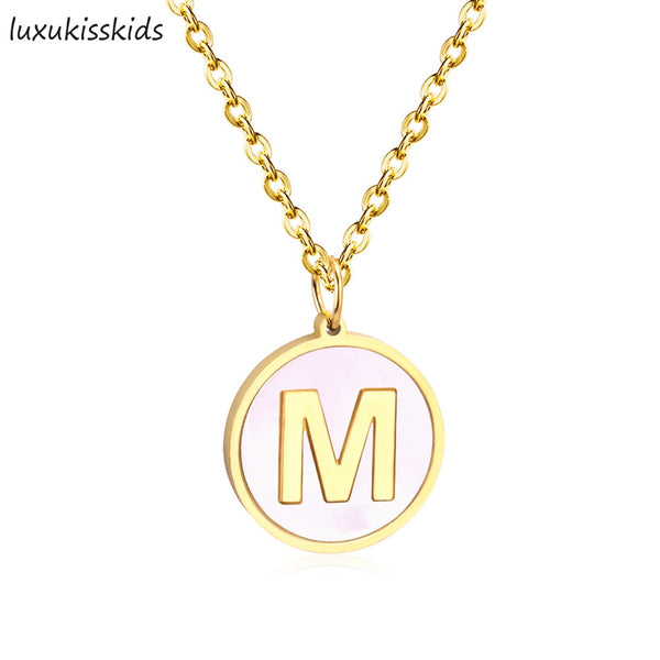 26 Letters initial Necklace Silver Gold Color