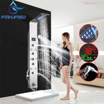 LED Bath Shower Faucet Digital Display Shower Head W Body Masssage SPA Jet