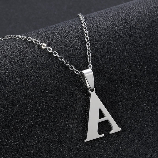 A to Z Stainless Steel Small Letters Necklaces For Women/Men Initial Letter Necklace