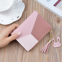 Zipper Purse Patchwork women Fashion Panelled Wallets