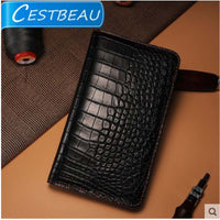 alligator crocodile wallet platinum zone open belly material
