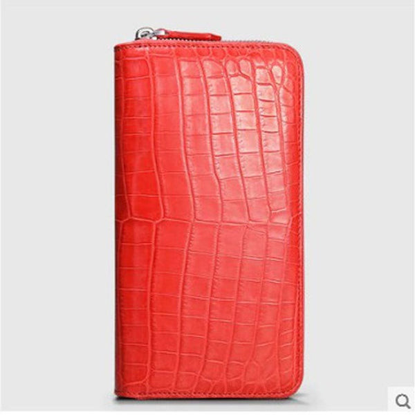 Nile crocodile wallet crocodile belly hand bag for ladies advanced area production multi - card