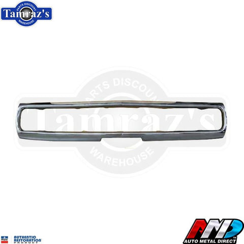 1970 Charger Triple Plated Chrome FRONT Bumper Brand New Tooling  AMD