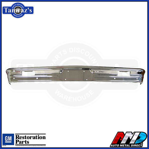 1965 Chevy II Nova Front Bumper Triple Plated  -  NEW AMD STAMPING & CHROME