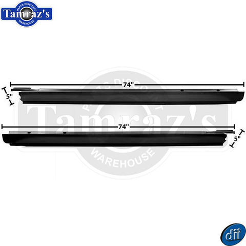 68-72 El Camino Outside Rocker Kick Panel - Dynacorn - PAIR
