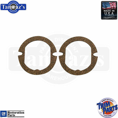 57 Chevy Parking Light Lamp Turn Signal Lens GASKETS ONLY - PAIR Made in USA