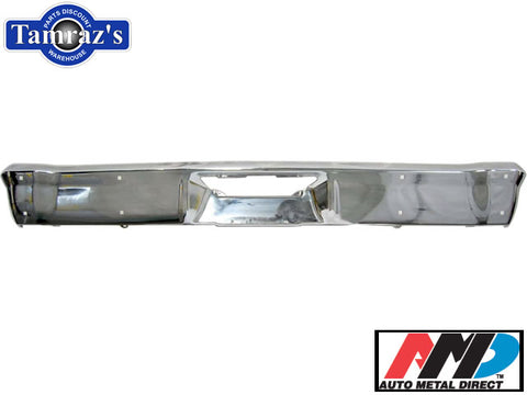 1966-1967 Chevy II Nova Rear Bumper Chrome New Tooling AMD