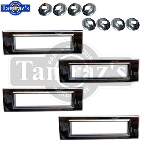 1969 Chevelle CORRECT Side Marker light lamp chrome BEZEL L=R Frt=Rear SET