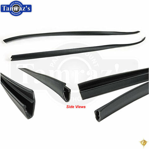 68-72 GM A-Body Headliner Rubber / Vinyl Side Molding Windlace Trim BLACK PAIR